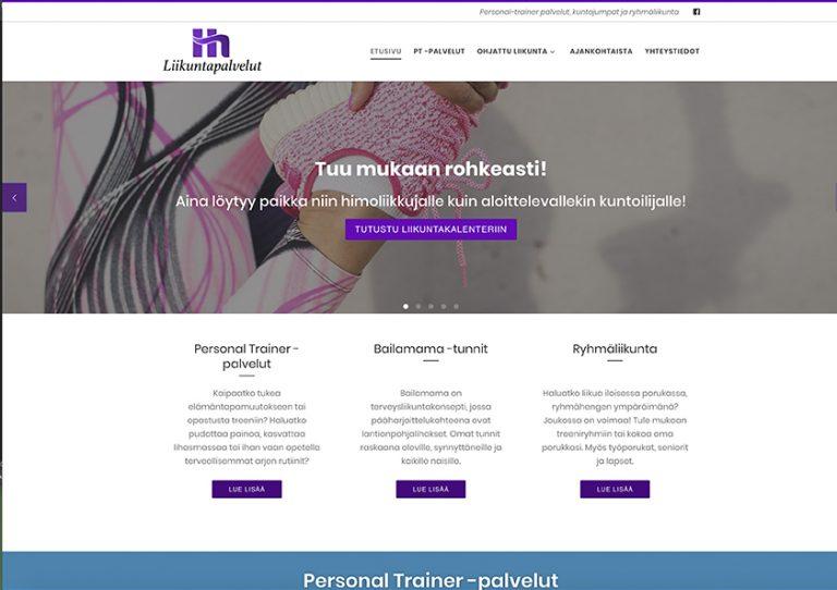 hh-liikuntapalvelut-nettisivut