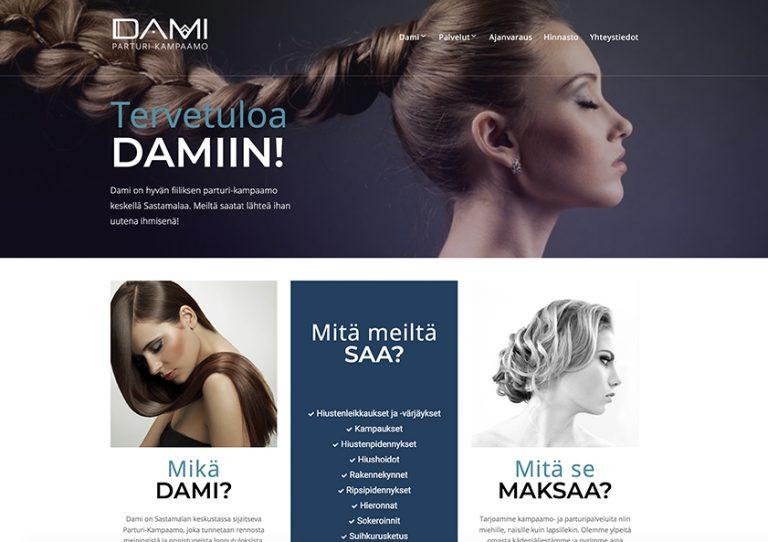 parturi-kampaamo-dami-webtalo